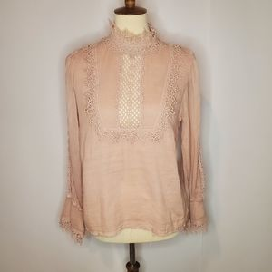 Free People One Victorian style blouse small